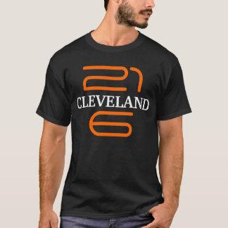 Cleveland 216 T Shirt Tee Ohio Black Orange Brown