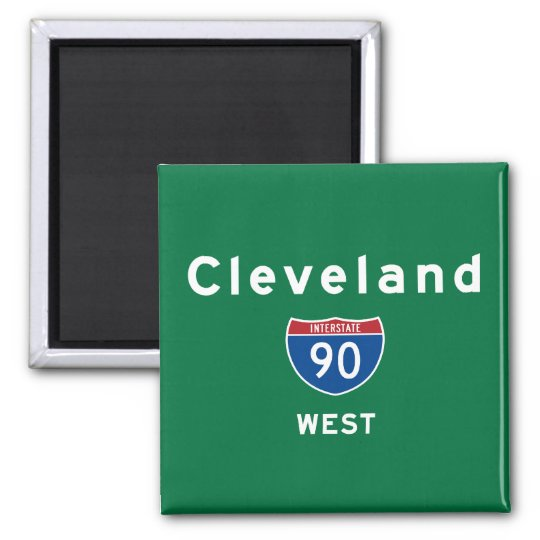 Cleveland 90 2 inch square magnet