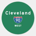Cleveland 90 etiqueta redonda