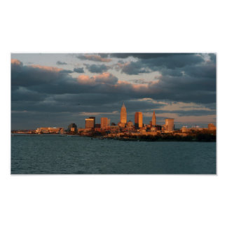 Cleveland A Glow Poster