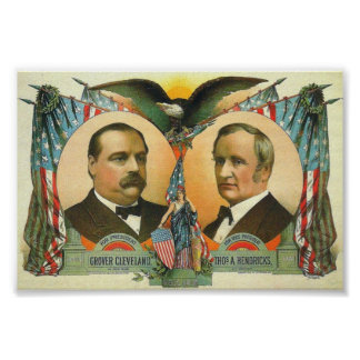 Cleveland and Hendricks presidential campaign 1884 Poster