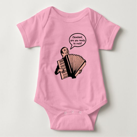 Cleveland, are you ready to rock? (Accordion) Baby Bodysuit