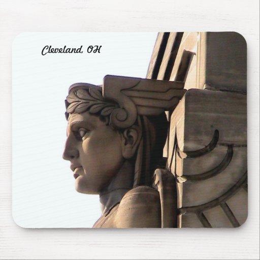 Cleveland Art Deco ( Bridge Guard)Mousepad