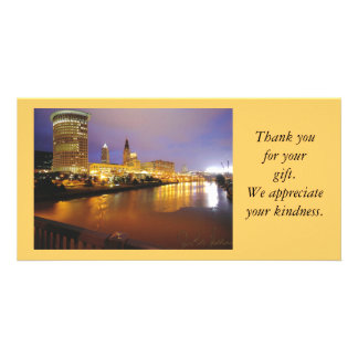 Cleveland at Night Thank You Photo Card