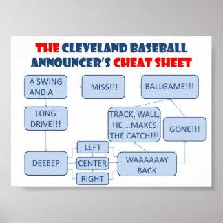 Cleveland Baseball Announcer Flowchart Poster