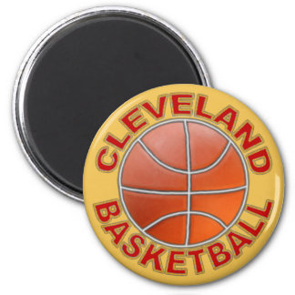 Cleveland Basketball Round Magnets. Magnet