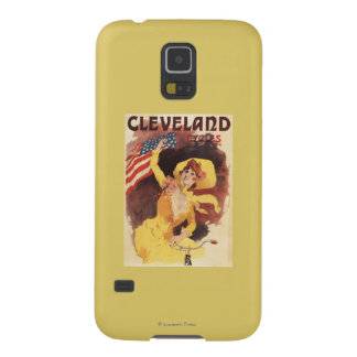 Cleveland Bicycles American Girl in Yellow Galaxy S5 Case