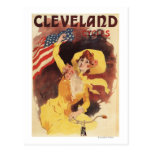 Cleveland Bicycles American Girl in Yellow Post Cards