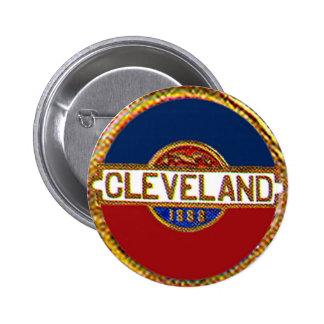 Cleveland - botón pin redondo de 2 pulgadas