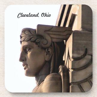 Cleveland Bridge Art Deco Cork Coaster