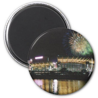 Cleveland Browns Football Stadium Firewords 2 Inch Round Magnet
