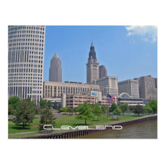 Cleveland céntrica, Ohio Tarjeta Postal