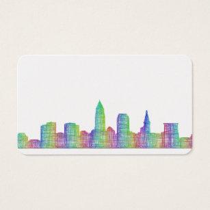 Cleveland skyline business cards templates zazzle cleveland city skyline business card colourmoves