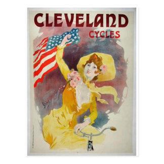 Cleveland completa un ciclo el anuncio viejo tarjetas postales