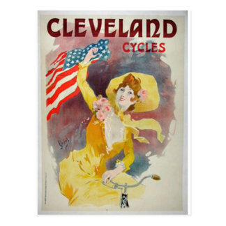 cleveland cycles old advertisement postcard