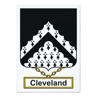 Cleveland Family Crest Custom Invitations
