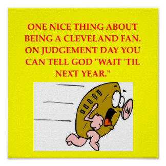 cleveland football fan poster