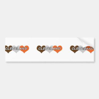 Cleveland Heart Bumper Sticker