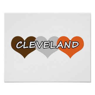 Cleveland Heart Poster