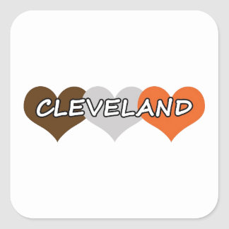Cleveland Heart Square Sticker