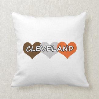 Cleveland Heart Throw Pillows