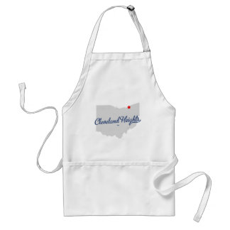 Cleveland Heights Ohio OH Shirt Adult Apron
