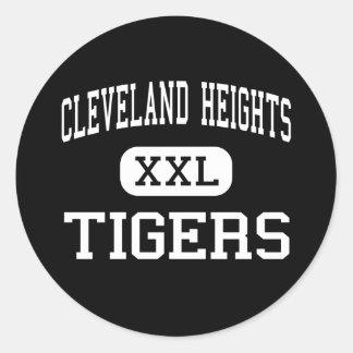 Cleveland Heights - tigres - Cleveland Heights Etiquetas Redondas
