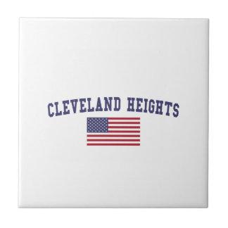 Cleveland Heights US Flag Ceramic Tile