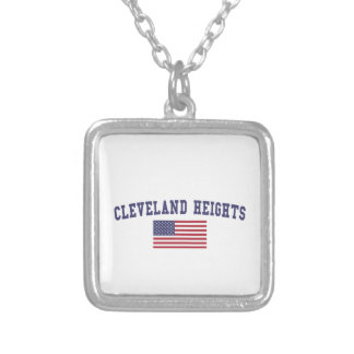 Cleveland Heights US Flag Silver Plated Necklace