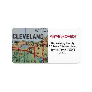 Cleveland hemos movido la etiqueta etiqueta de dirección