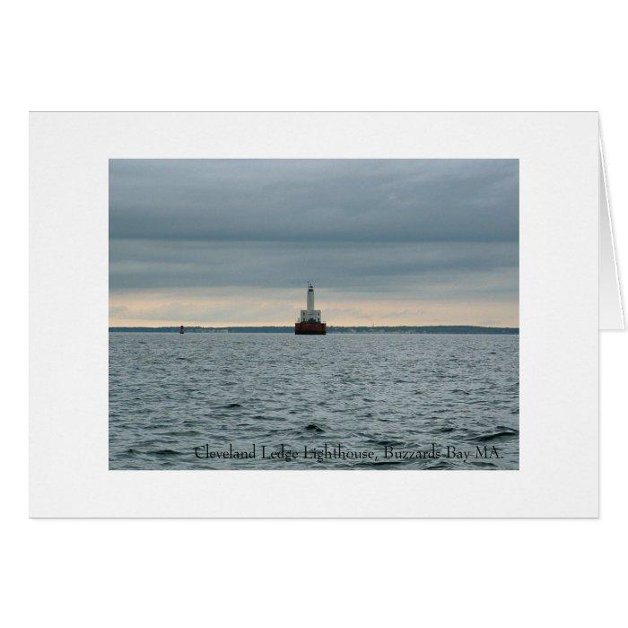 Cleveland Ledge Lighthouse, Buzzards Bay MA. Card