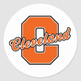 Cleveland Letter Classic Round Sticker