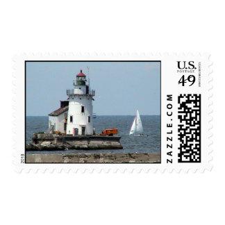 Cleveland Lighthouse summer Stamp