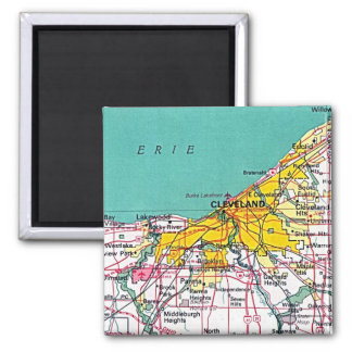 Cleveland 2 Inch Square Magnet