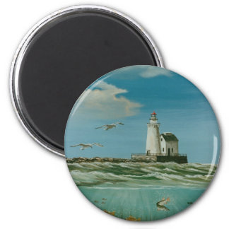 Cleveland Main Lighthouse 1998 2 Inch Round Magnet