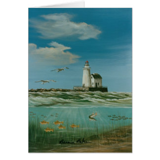 Cleveland Main Lighthouse 1998 Card