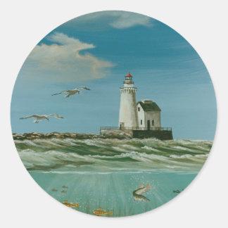 Cleveland Main Lighthouse 1998 Classic Round Sticker