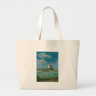 Cleveland Main Lighthouse 1998 Large Tote Bag