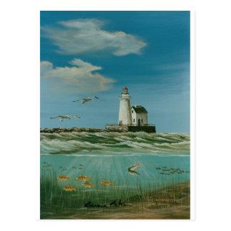 Cleveland Main Lighthouse 1998 Postcard