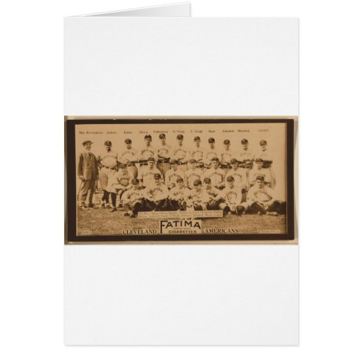 Cleveland Naps 1913 Greeting Card