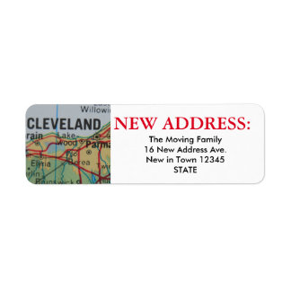 Cleveland New Address Label