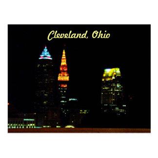 Cleveland Night Skyline Post Card