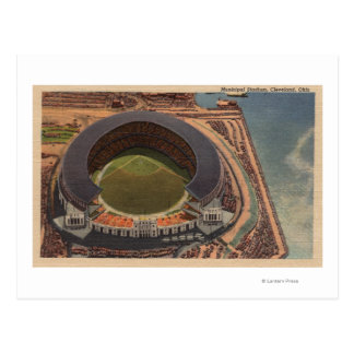 Cleveland, OH - Aerial of Municipal Baseball Postcard