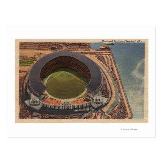 Cleveland, OH - antena del béisbol municipal Postales