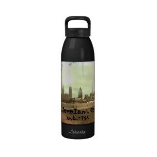 """Cleveland, OH -"" botella de agua est.1796"
