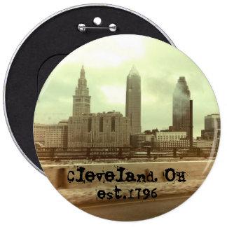 """""""Cleveland, OH -"""" botón GRANDE set.1796 Pin Redondo De 6 Pulgadas"""