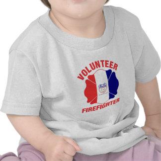 Cleveland, OH  Flag Volunteer Firefighter Cross Tshirts