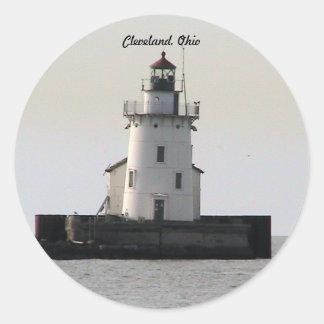 Cleveland OH Lighthouse ( Evening) Sticker