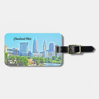 Cleveland OH River View Luggage Tag