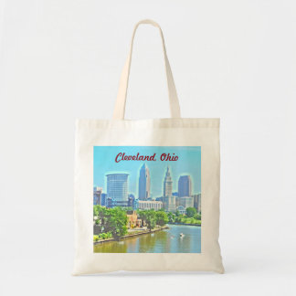 Cleveland, OH River View Photo Art Bag